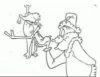 Grinch saves his dog named Max Coloring Page