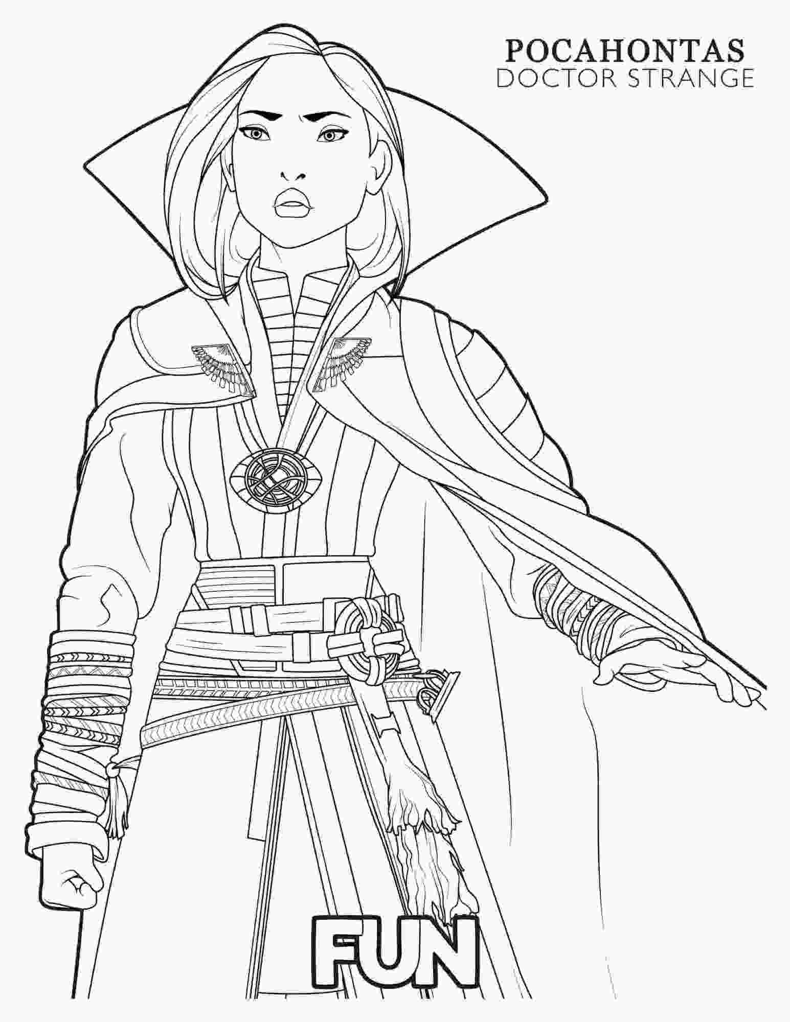 Clea from Doctor Strange movie wears a powerful stone Coloring Pages