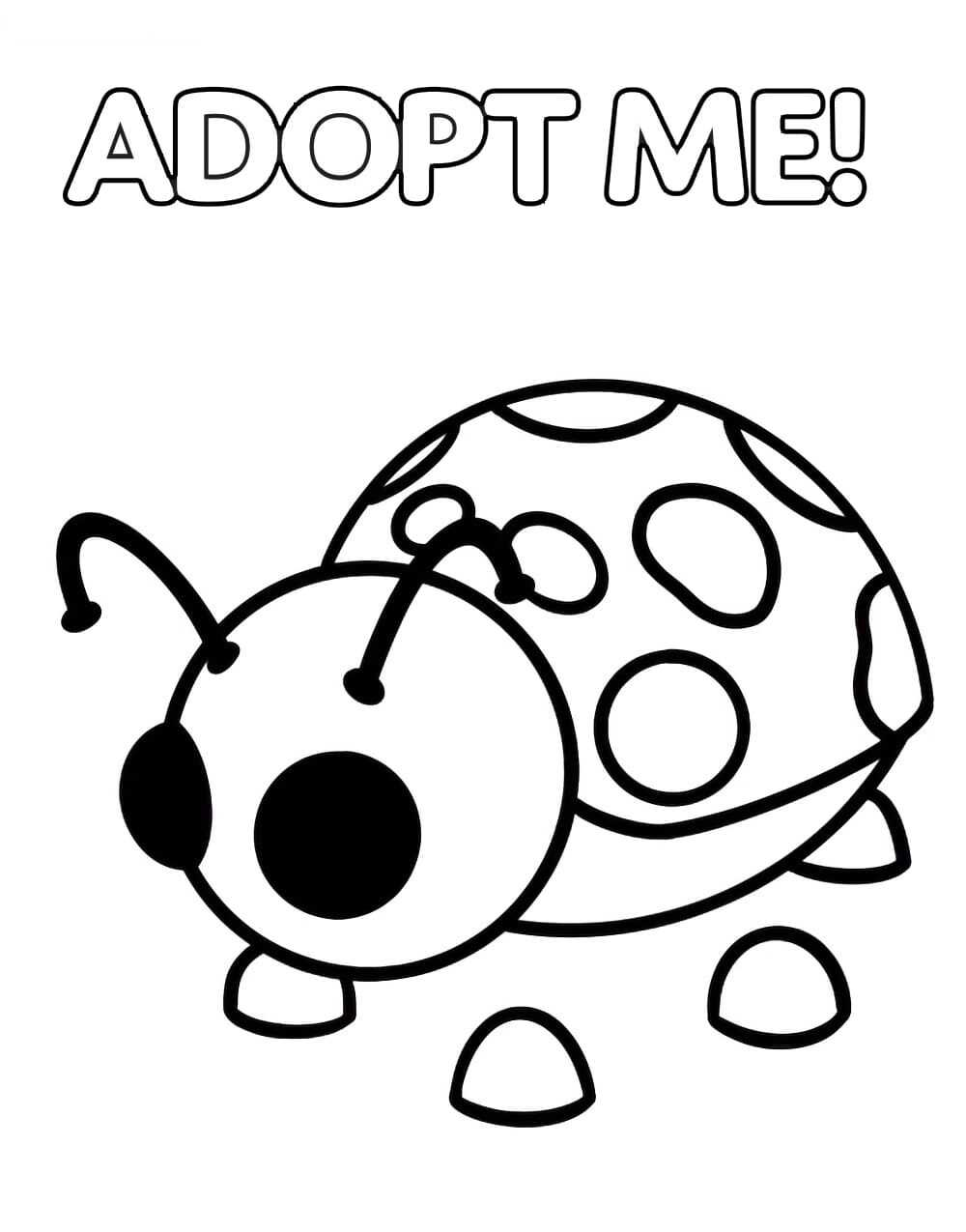 Adopt Me Coloring Pages
