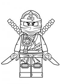 Lego Ninjago Green Ninja named Lloyd Garmadon Coloring Page