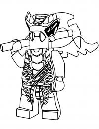 Ninjago Lizaru has spikes on his head Coloring Page