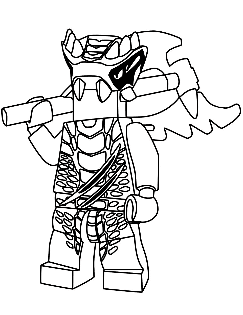 Ninjago Lizaru has spikes on his head Coloring Pages