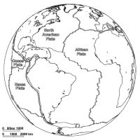 Major Tectonic Plates and Their Approximate Direction of Movement Coloring Page