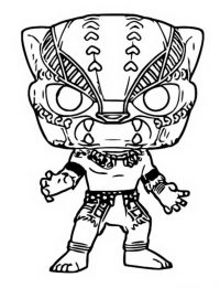 Black Panther wears Wakanda clothes Coloring Page