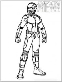 Angry Ant-man in Ant-man movie poster Coloring Page