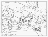 Animals join in the camping night from Adopt me Coloring Page