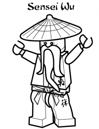 Sensei Wu from Ninjago encourages his student Coloring Page