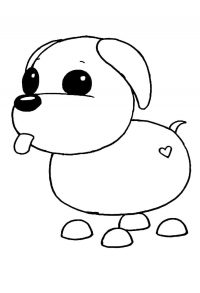 The Neon version of the Puppy Dog glows on its ears, tail, and paws from Adopt me Coloring Page