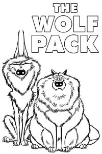 The Wolf pack from Stock Animation Film Coloring Page