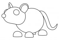 Adopt me the Rat twitches its ears and bobs its head up and down Coloring Page