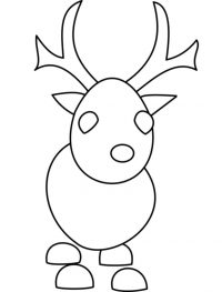 The Reindeer from Christmas event in Adopt me Coloring Page