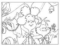 The Grinch and Betty Lou Who Coloring Page