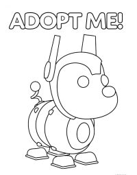 The mechanical dog named Robo Dog from Adopt me Coloring Page