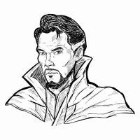 Master of the Mystic Arts Doctor Stephen Strange Sketch Coloring Page
