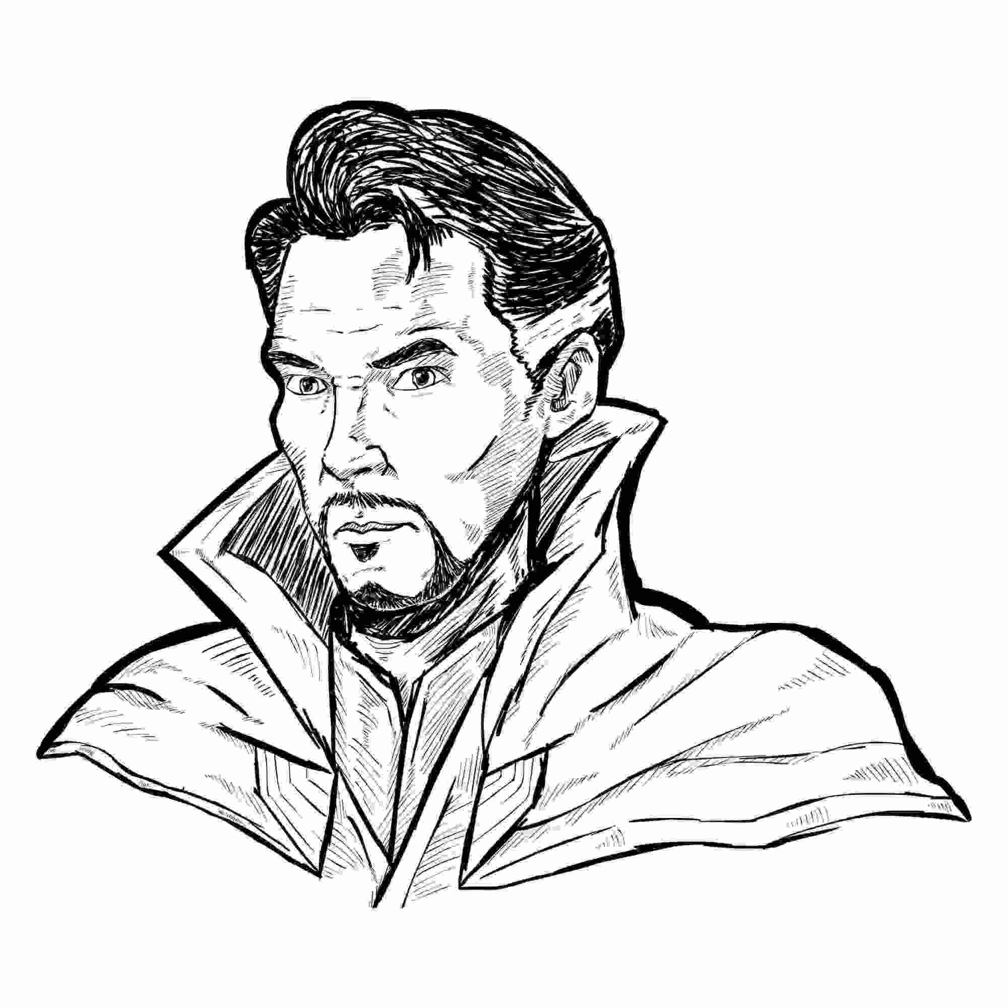 Master of the Mystic Arts Doctor Stephen Strange Sketch Coloring Pages