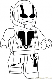 Lego Ant-man walks slowly Coloring Page