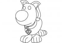 Adopt me Scooby-doo has a long tail pointing upwards Coloring Page