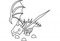 Adopt me Shadow Dragon has a partially exposed rib cage Coloring Page