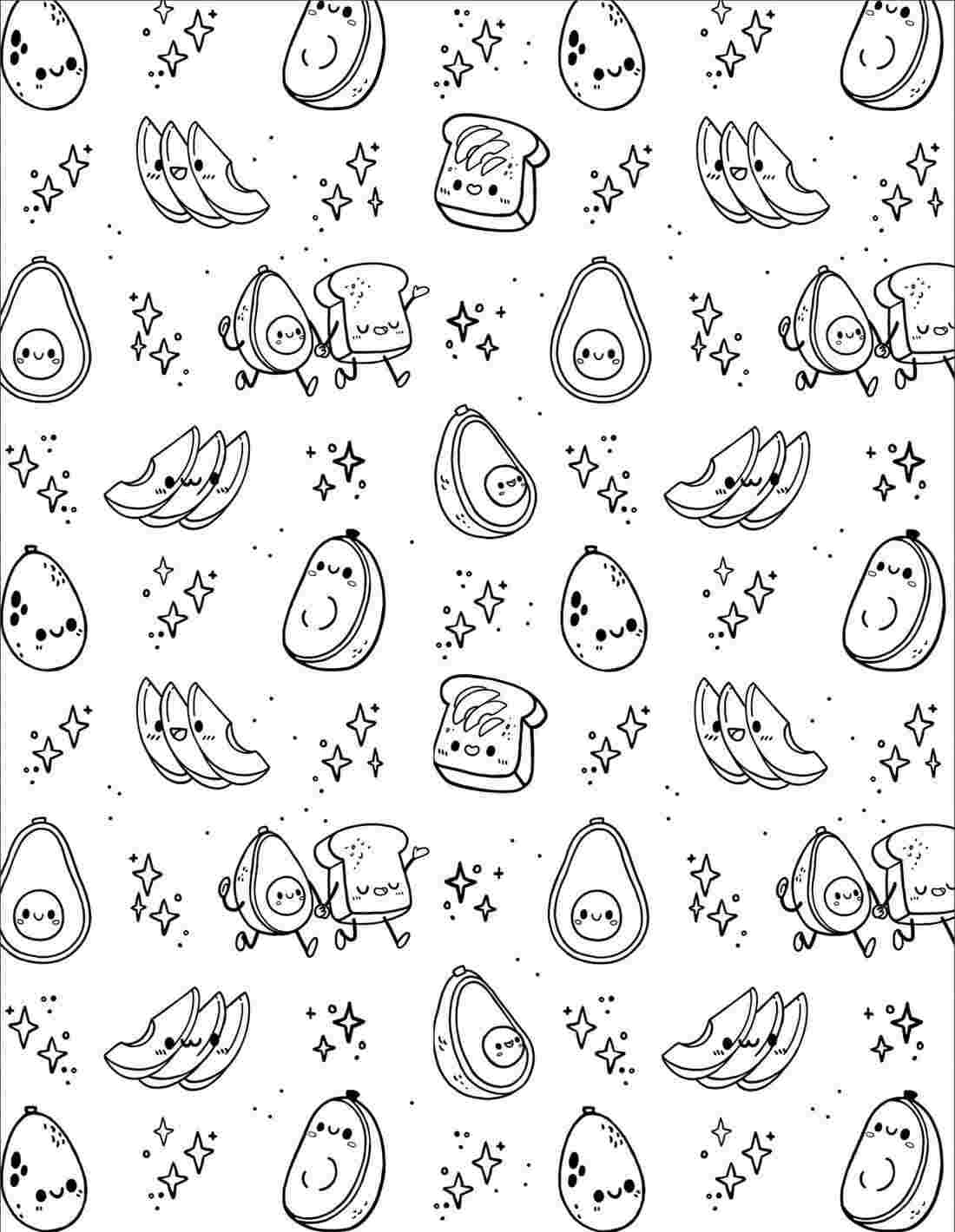 Chibi fruit shape in Squishmallow Coloring Pages