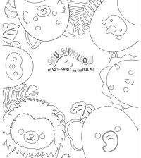 Squishmallow so soft-cuddle-squeeze Coloring Page