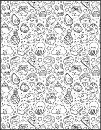 All Characters from Squishmallow Coloring Page