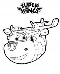 Donnie in Super Wings known as genius can be fix anything Coloring Page