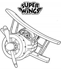 Grand Albert from Super Wings may be a rusty airplane Coloring Page