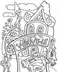 Welcome to Whoville in the Grinch Coloring Page
