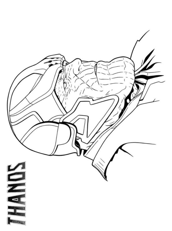 Head of Thanos from Avengers Infinity War Coloring Pages