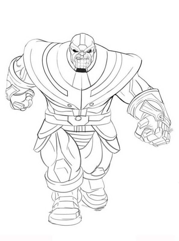 Wariness of Thanos from Avengers Infinity War Coloring Pages