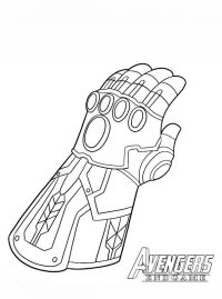 Infinity Gauntlet of Avengers Endgame Coloring Page