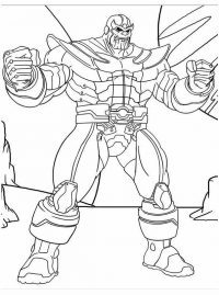 A Genocidal Warlord Thanos From Titan Coloring Page