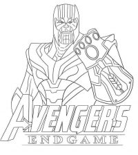 Thanos outline from the Avengers Endgame Coloring Page