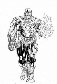Thanos from the Avengers Infinity War possessed immense levels of superhuman strength Coloring Page