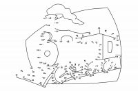 The train running Dot-to-dot Coloring Page