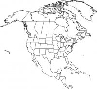 Map of North American continent Coloring Page