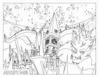 Winter holiday from Adopt me Coloring Page