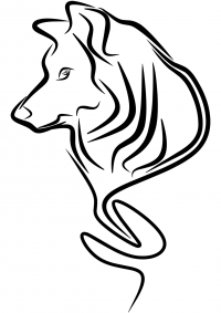 Wolf tattoo design for men Coloring Page