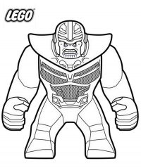 Thanos from the Avengers Endgame in Lego version Coloring Page