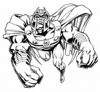 Avengers Infinity War Thanos wears armor with cloak flying fast Coloring Page