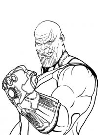 The rogue of Thanos when possessing the Infinity Gauntlet Coloring Page