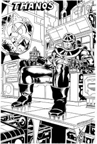 Thanos activated his machine in the Avengers Coloring Page