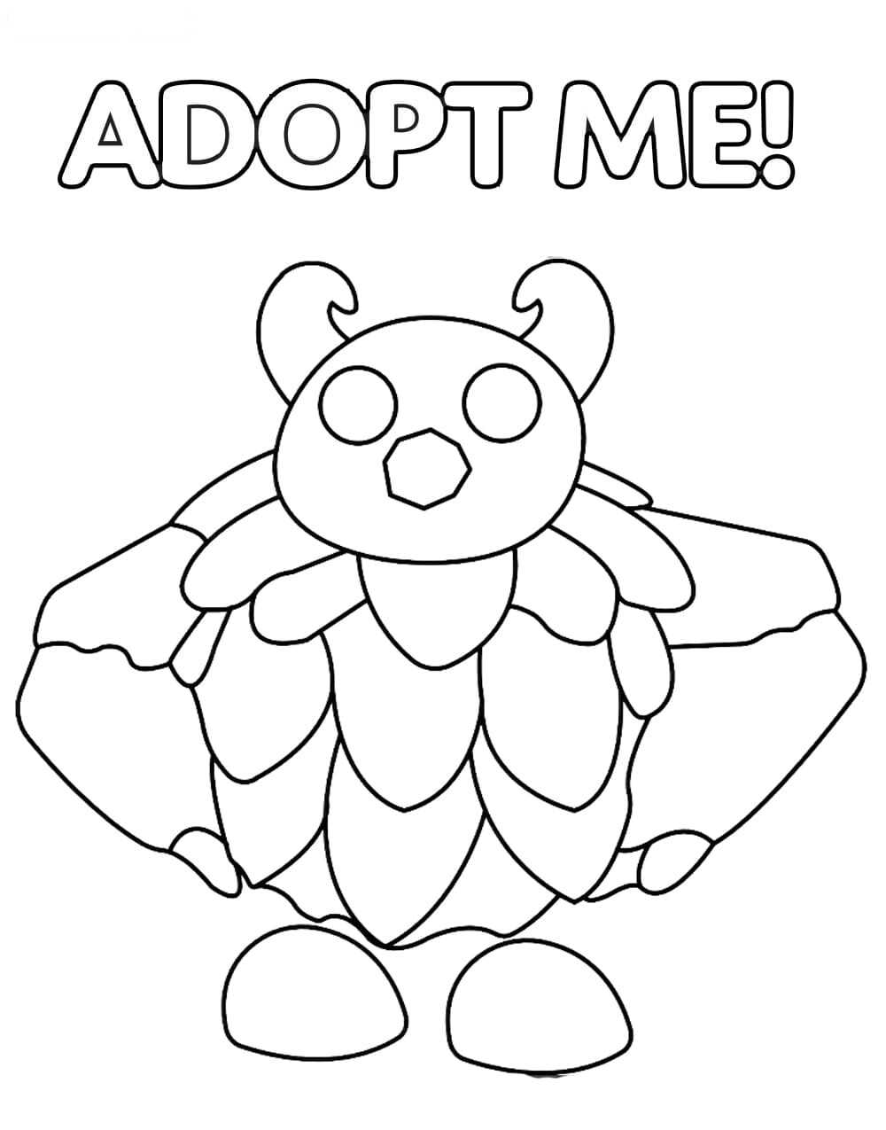 The Yeti from Adopt me has a large body with layers of fur Coloring Page