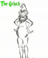 Big stomach of Grinch is pear-shaped Coloring Page