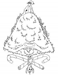 Snowy Mount Crumpit where Grinch resides Coloring Page