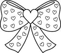Cheer hair bow of Jojo Siwa Coloring Page