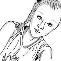 Fanart Jojo Siwa plays sports Coloring Page