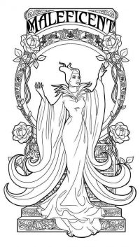 Stunning evil fairy Maleficent from Descendant Coloring Page