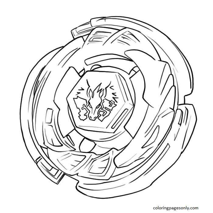 Beyblade Pegasus Coloring Page