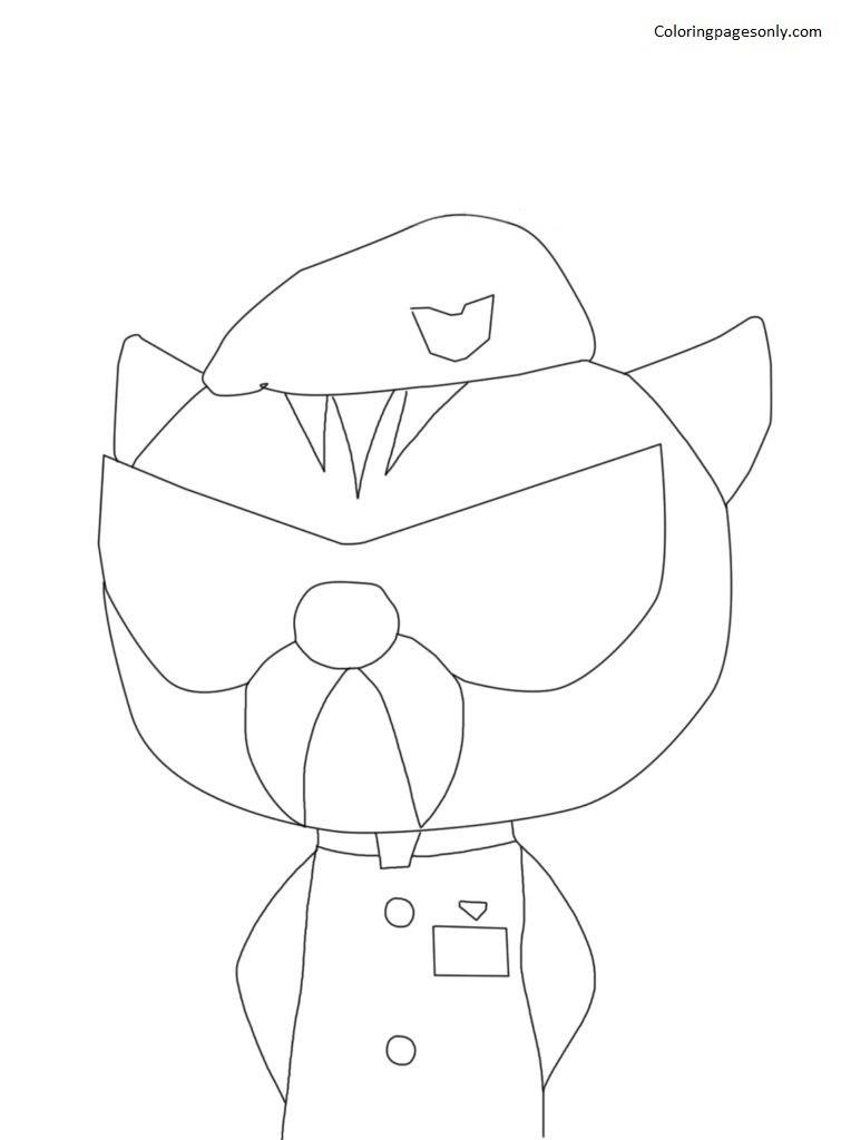 Commander Chen Miniforce Coloring Page